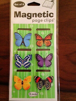 Butterfly Magnetic Page Clips Set of 6 by Re-Marks