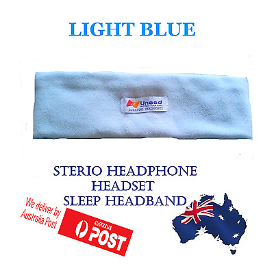 Sleep Headphones  Headband Mask for Running Sleeping Relaxing -  LIGHT BLUE