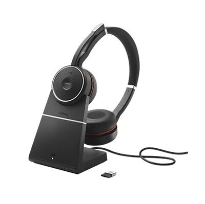 Jabra Evolve 75 UC Stereo Wireless Headset with Charging Stand 7599-838-199