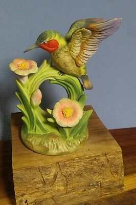 Delightful Porcelain Hummingbird Figurine~ Gorham Gallery Birds, Japan