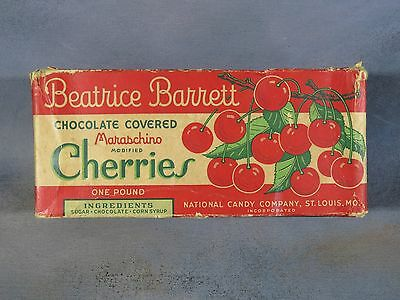 Vintage Candy Box, Beatrice Barrett Chocolate Covered Cherries, St. Louis