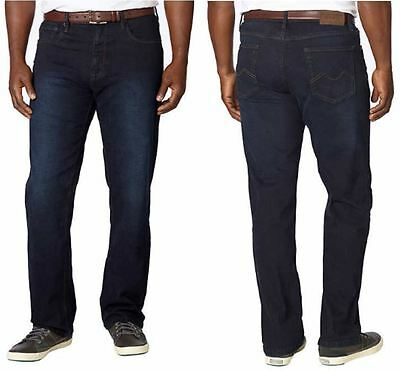 NWT Urban Star Men's Relaxed Fit Straight Leg Stretch Jeans Dark Rinse 32 - 42