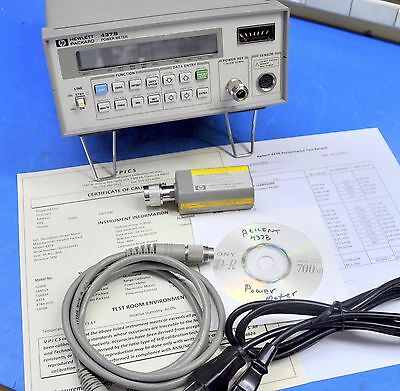 HP Agilent 437B Power Meter, 8482A Sensor, Cable, NIST Calibrated w/ Certificate