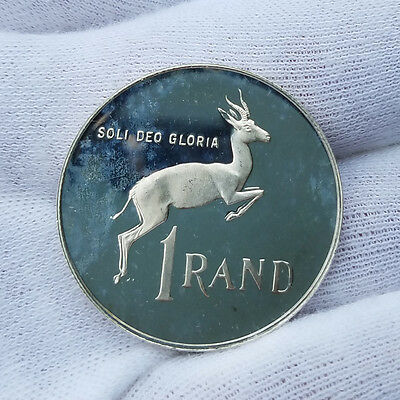 1980 South Africa 1 Rand  Silver Proof 1R  R1