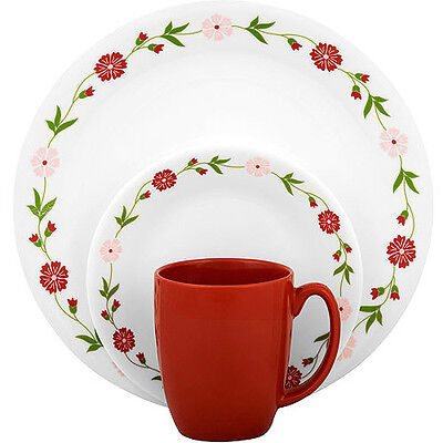 Corelle Livingware Spring Pink 32-Piece Dinnerware Value Bundle  sc 1 st  PicClick & CORELLE LIVINGWARE SPRING Pink 32-Piece Dinnerware Value Bundle ...