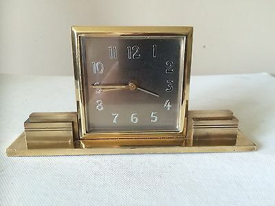 Smith's Art Deco 8 Day Desk Clock In Brass Stunning Example Working Order