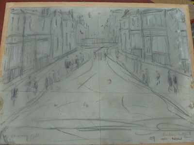 L S Lowry?original Pencil Drawing,speculative,no Provenance