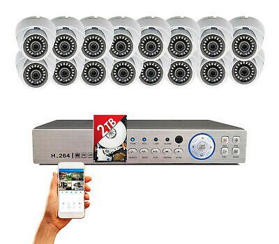 16 Channel HD HDMI DVR 16x High Definition 4in1 1080P Home CCTV Security Camera