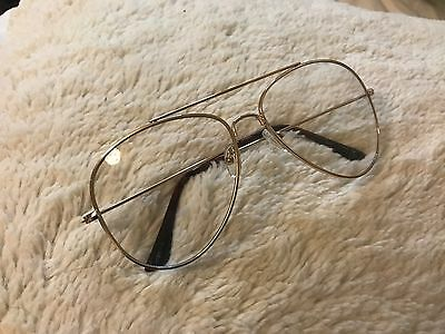 Ootdfash Gold rimmed with turtle shell ear pieces  clear fake fashion glasses
