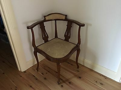 Antique Corner Chair and Low Chair