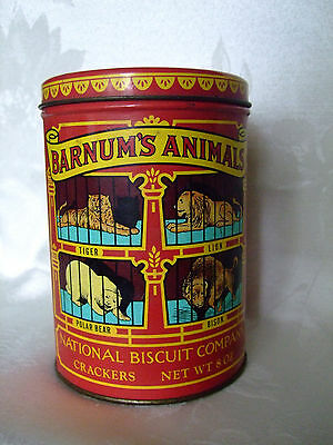 Vintage 1979 Barnum's Animals Nabisco Crackers Tin National Biscuit Co. Canister