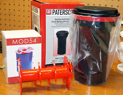 MOD 54 MOD54 4x5 film developing system WITH Patterson tank, unused