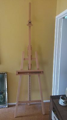 Heavy Duty Foldable 235cm Wooden Tripod Easel Artist Art Painting Stand