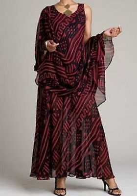 Mudcloth Print Dress Ethnic Ashro African American Red Black Party Cruise Size S
