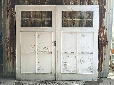 Old Barn Style Garage Doors With Glass 2300w X 2110h
