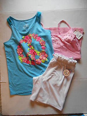 Girls Shorts Tops Lot Of 3 Justice Etc.
