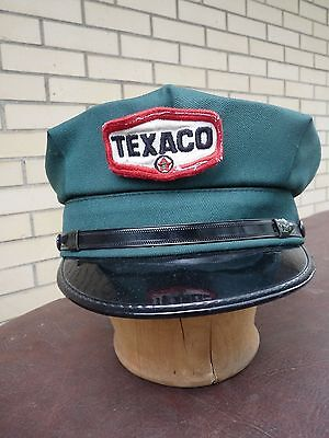 Vintage Texaco Oil Service Gas Station Attendant Uniform Hat Cap w Patch Canada