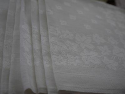 15*Antique*Vintage*Damask*Irish*Linen*Napkins* XL* Banquet*Ivy*Floral*Quanitity