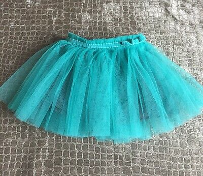 Cherokee Baby Girl Turquoise Teal Grey Tutu Skirt Size 24 Months EUC 2t Birthday