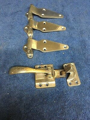 Vintage Ice Box Hardware Hinges Door Latch