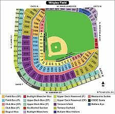 Chicago Cubs Vs. Colorado Rockies 6/11/17 2 Bleacher Tickets Wrigley Field