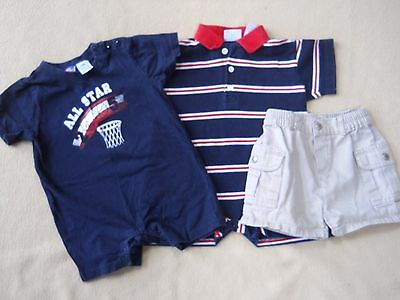 Toddler boys one piece shirts & shorts size 12 months/ Place/ Heartstrings/ SO 4