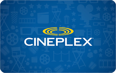 Cineplex $60 E-Gift Cards for only $50 dollars!! Free Shipping & no Import Fee!