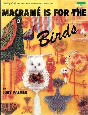 Retro Macrame Book - Make Owls And Other Birds