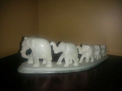 Collectable Stone Carved Elephants