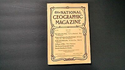 Vintage magazine NATIONAL GEOGRAPHIC May 1909 Call of the West Delecarlia