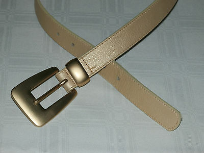 Sz S 1990's Vintage Patricia Green Buckle FAUX Leather Gold Glamour BELT USA