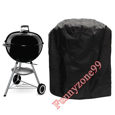 Kettle BBQ Cover Heavy Duty Barbecue Protector PVC Rain Mildew Water Resistant