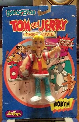 1992 JusToys Bend-Ems Robyn from Tom and Jerry The Movie on card