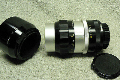 Near MINT Condition NIKON Nikkor-Q Auto 135mm F/ 3.5 Telephoto w/ Lens Hood