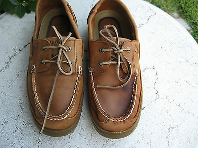 Sperry Top Sider lite brown  Leather boat Shoes Size 10 M
