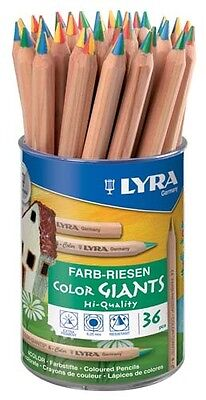 LYRA Giants Pencils 4 Color 36 Tub