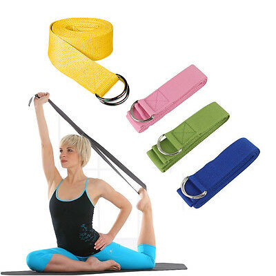 New180CM Yoga Stretch Strap D-Ring Belt Gym Waist Leg Fitness Adjustable Belt