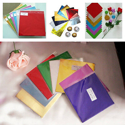 100 Pcs / set Chocolate Candy Sewing Package 10 Colors 8011 Food Aluminum Foil