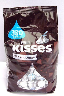 Hershey's Kisses Milk Chocolate 1.58kg 56oz Made in USA  330 pieces Brand new2