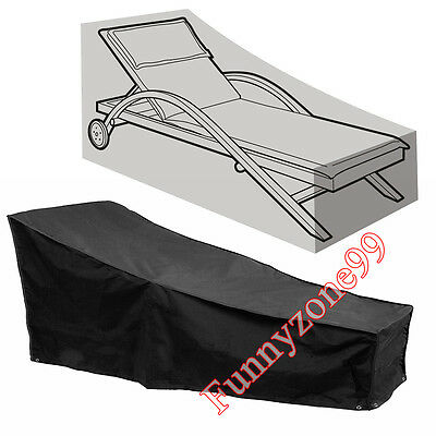Outdoor Sun Bed Beach/Pool Lounge Sunlounger Chair Rain Cover Weather Protector