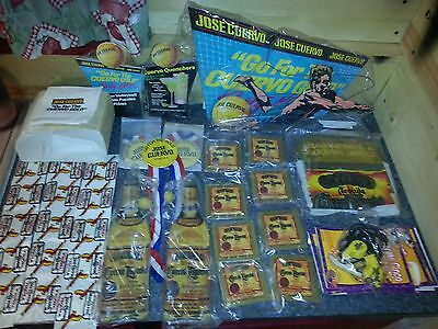 Rare NOS Lot Jose Cuervo Tequila Sign Inflatable Bottle Patch Button Game Promos