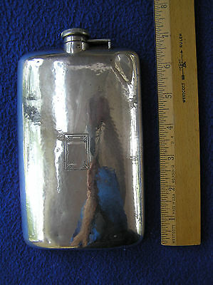 Hammered sterling silver flask 5/8 pint 192 g