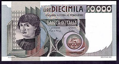 Italy. 10,000 Lire, QB 694343 Q, 6-9-1980, Almost Uncirculated.