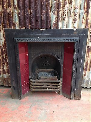 Cast Iron Fireplace With Tile Decorations 965w X 965h