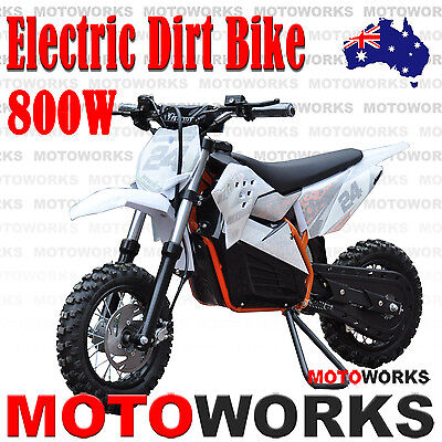 NEW MOTOWORKS 36V 800W WATT Electric DIRT TRAIL PIT MOTOR 2 WHEELS PRO BIKE ORG