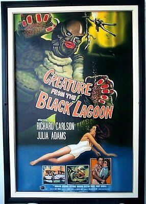 Creature From the Black Lagoon, 1954, Movie Poster Painting, Oil on Canvas