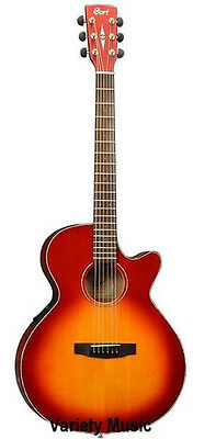 Cort Acoustic Electric Guitar SFXE SUNSET BURST, Solid Spruce Top, save $200