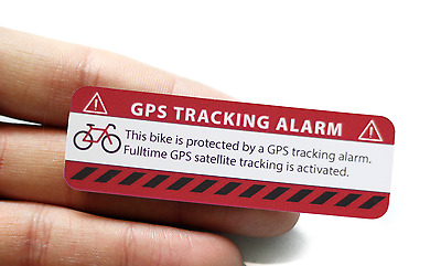 2x GPS Aufkleber  Fahrrad Alarm Warnaufkleber Anti Theft Sticker Bicycle Bike.