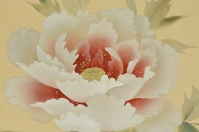 Hanging Scroll Japanese Painting Butterfly Bonsai Asian Ink Antique Japan b187