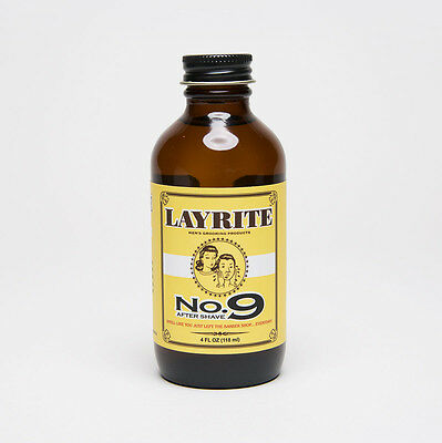 Layrite After Shave No 9 BAY RUM Aftershave - 4fl.oz. / 118ml  *AUSSIE SELLER*